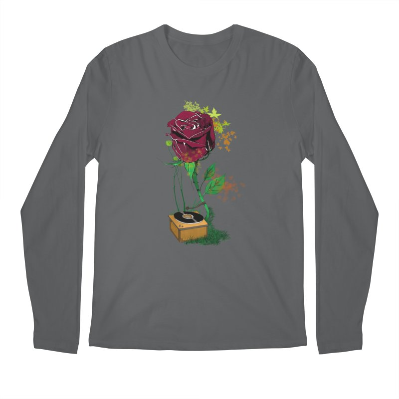 Gramophone Rose Men's Longsleeve T-Shirt by artichoke's Artist Shop