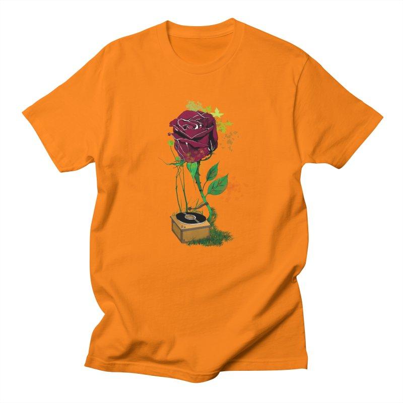 Gramophone Rose Men's T-Shirt by artichoke's Artist Shop