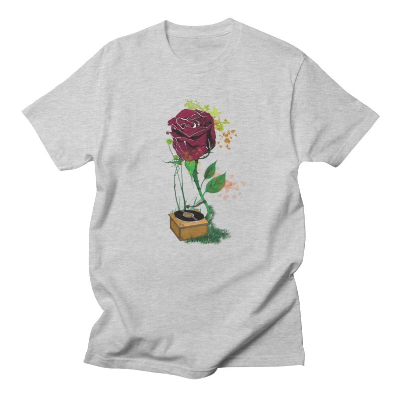 Gramophone Rose Men's T-Shirt by artichoke's Artist Shop