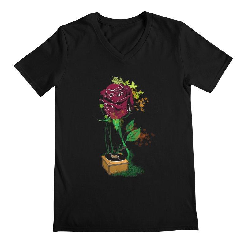 Gramophone Rose Men's V-Neck by artichoke's Artist Shop