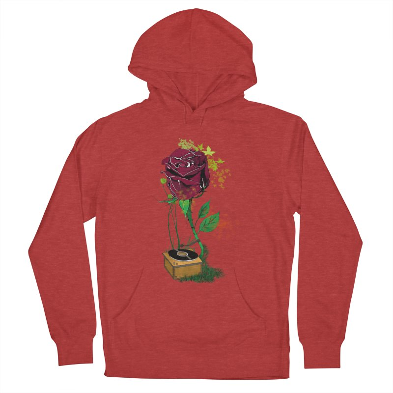 Gramophone Rose Women's French Terry Pullover Hoody by artichoke's Artist Shop