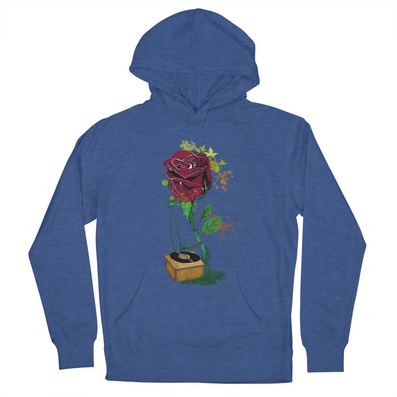 Gramophone Rose Men's French Terry Pullover Hoody by artichoke's Artist Shop