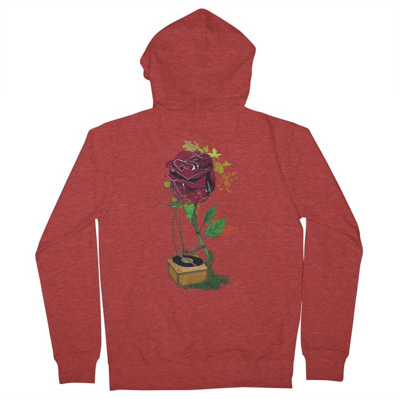 Gramophone Rose Women's Zip-Up Hoody by artichoke's Artist Shop