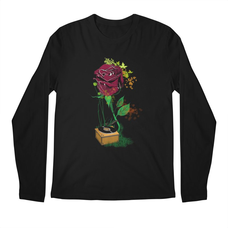 Gramophone Rose Men's Regular Longsleeve T-Shirt by artichoke's Artist Shop