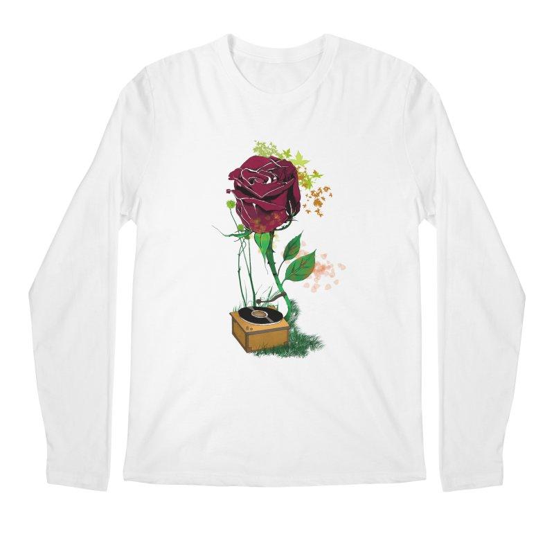 Gramophone Rose Men's Longsleeve T-Shirt by artichoke's Artist Shop