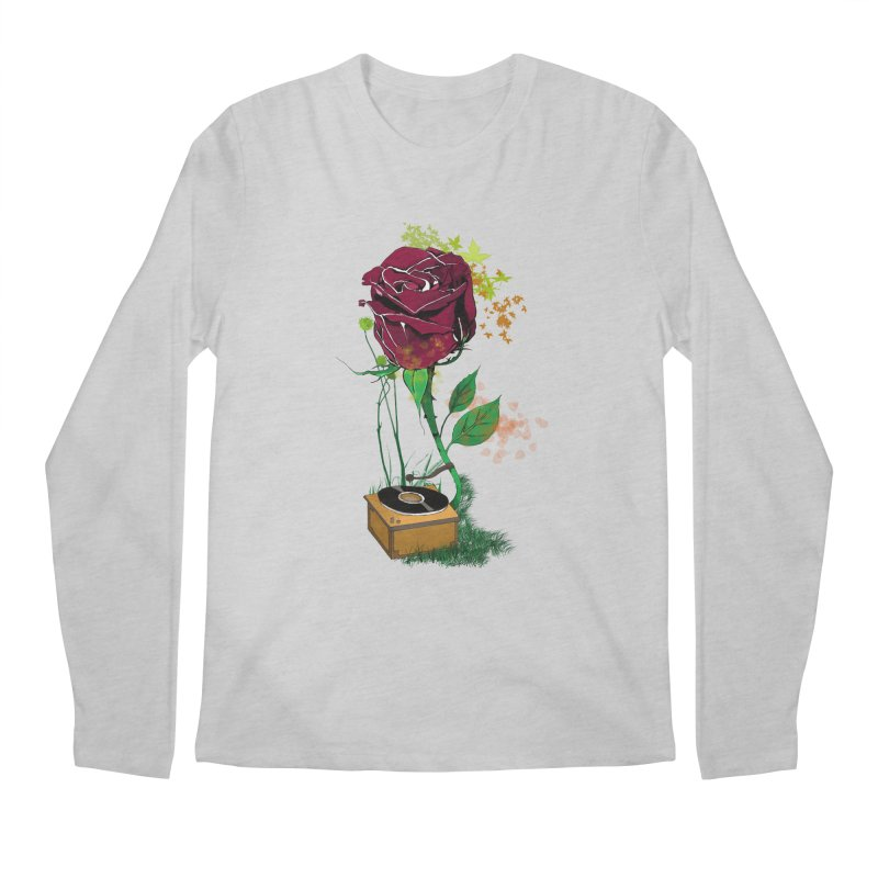 Gramophone Rose Men's Regular Longsleeve T-Shirt by artichoke's Artist Shop