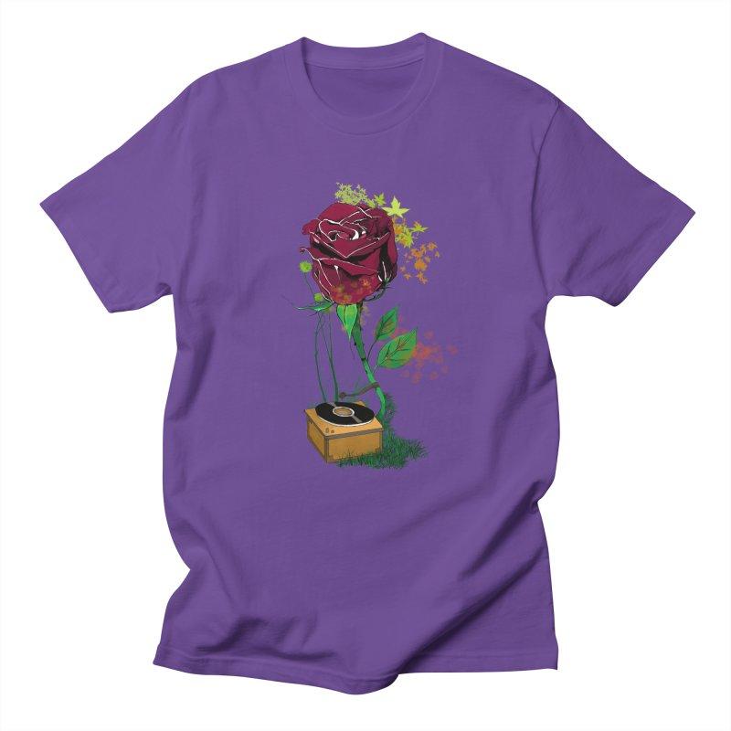 Gramophone Rose Men's Regular T-Shirt by artichoke's Artist Shop