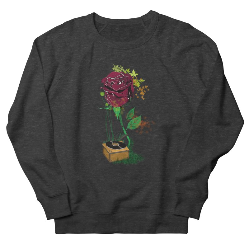 Gramophone Rose Women's French Terry Sweatshirt by artichoke's Artist Shop