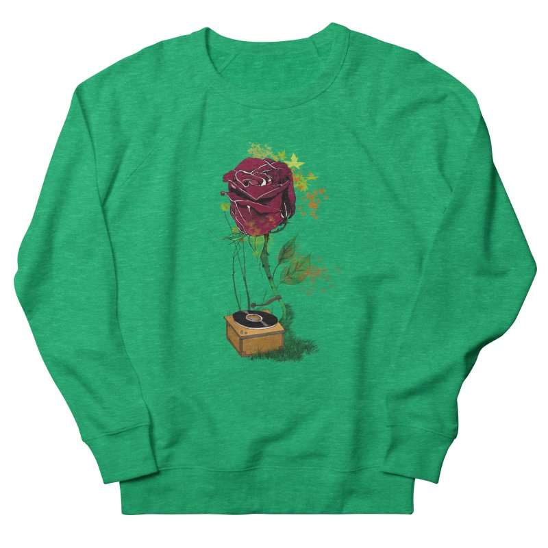 Gramophone Rose Men's French Terry Sweatshirt by artichoke's Artist Shop