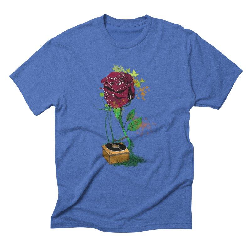 Gramophone Rose Men's Triblend T-Shirt by artichoke's Artist Shop