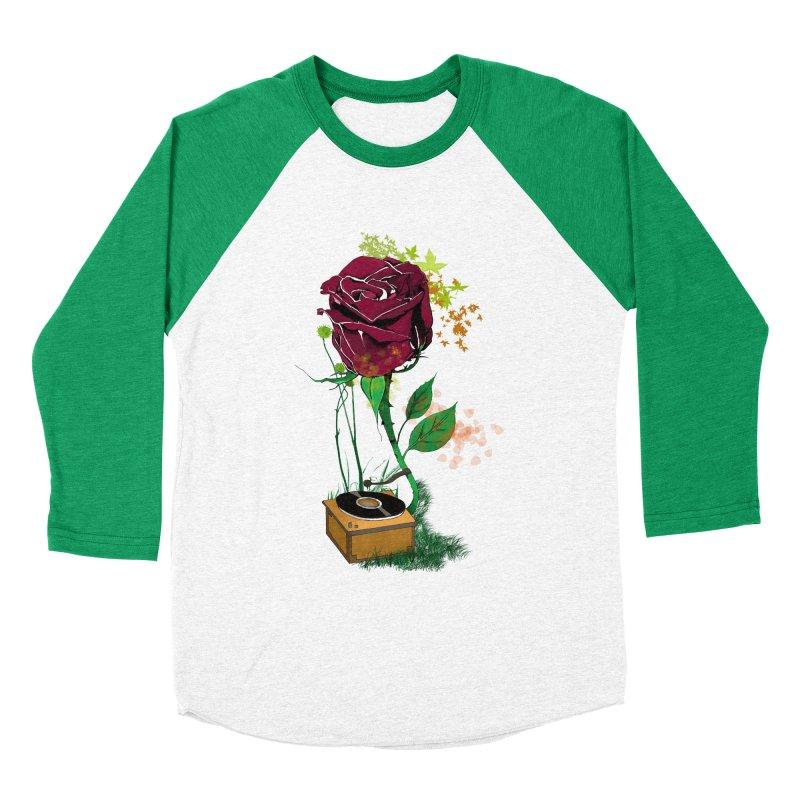 Gramophone Rose Women's Baseball Triblend T-Shirt by artichoke's Artist Shop
