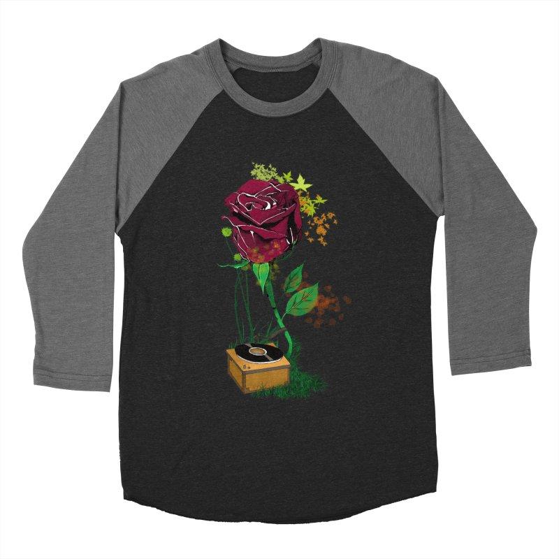 Gramophone Rose Men's Baseball Triblend T-Shirt by artichoke's Artist Shop