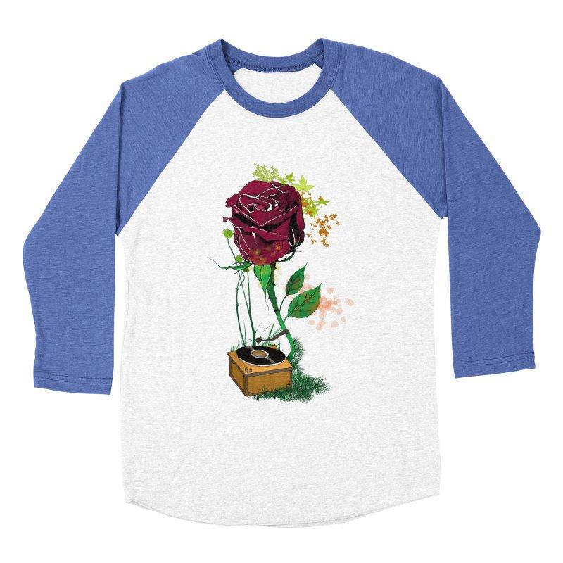 Gramophone Rose Men's Baseball Triblend Longsleeve T-Shirt by artichoke's Artist Shop