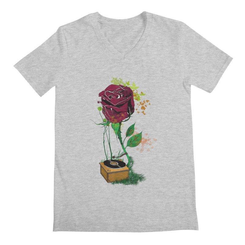 Gramophone Rose Men's Regular V-Neck by artichoke's Artist Shop