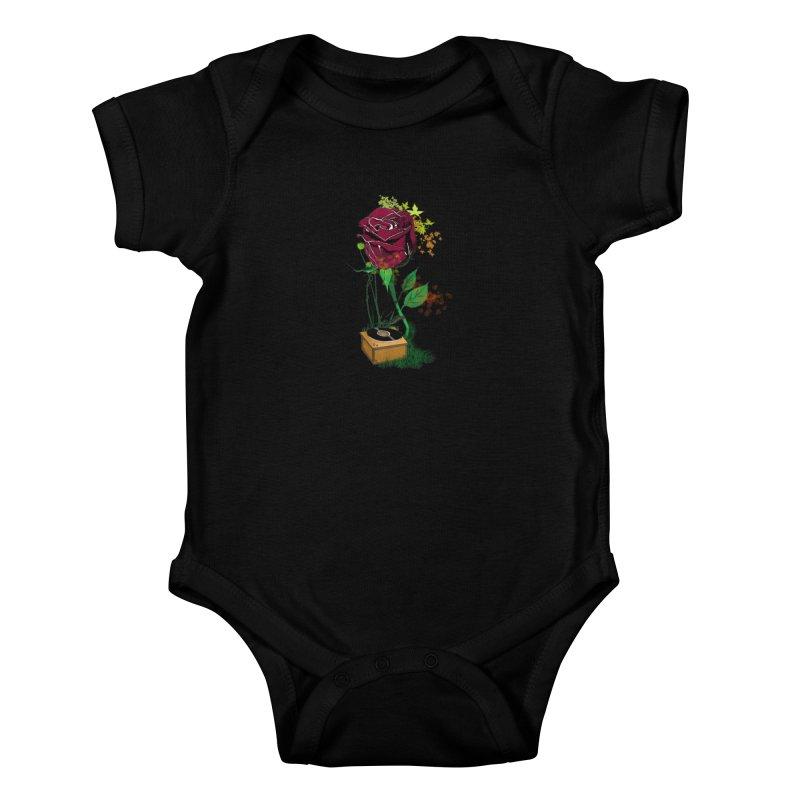 Gramophone Rose Kids Baby Bodysuit by artichoke's Artist Shop