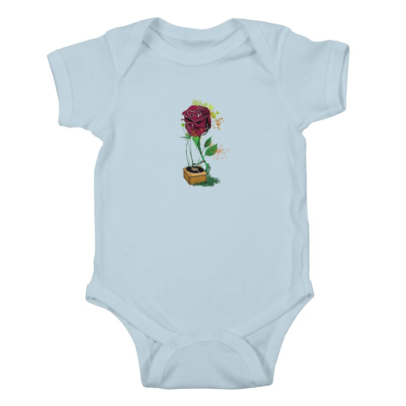 Gramophone Rose Kids Baby Bodysuit by artichoke's Artist Shop