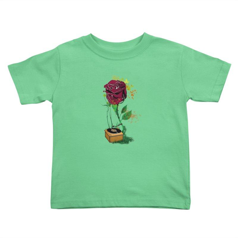Gramophone Rose Kids Toddler T-Shirt by artichoke's Artist Shop