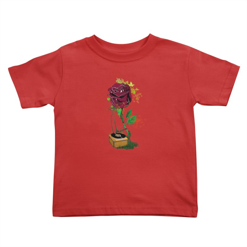 Gramophone Rose Kids Toddler T-Shirt by artichoke's Artist Shop