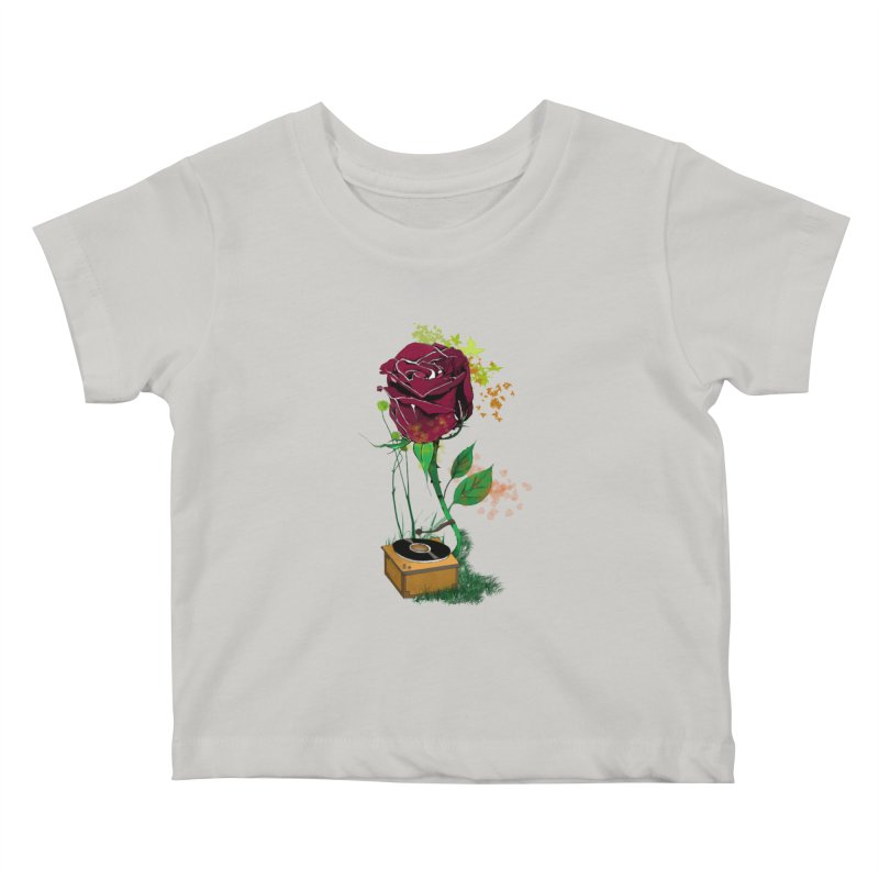 Gramophone Rose Kids Baby T-Shirt by artichoke's Artist Shop