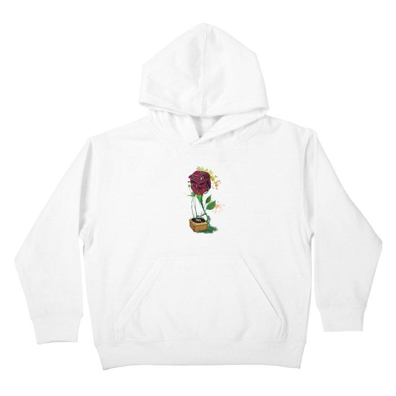 Gramophone Rose Kids Pullover Hoody by artichoke's Artist Shop