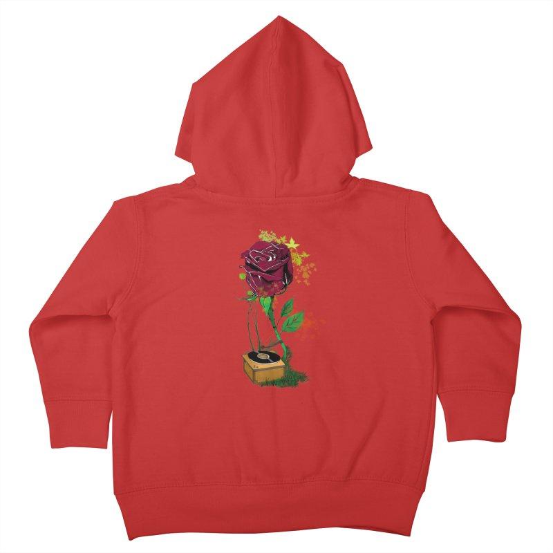 Gramophone Rose Kids Toddler Zip-Up Hoody by artichoke's Artist Shop