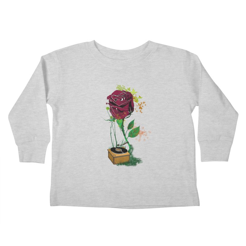 Gramophone Rose Kids Toddler Longsleeve T-Shirt by artichoke's Artist Shop