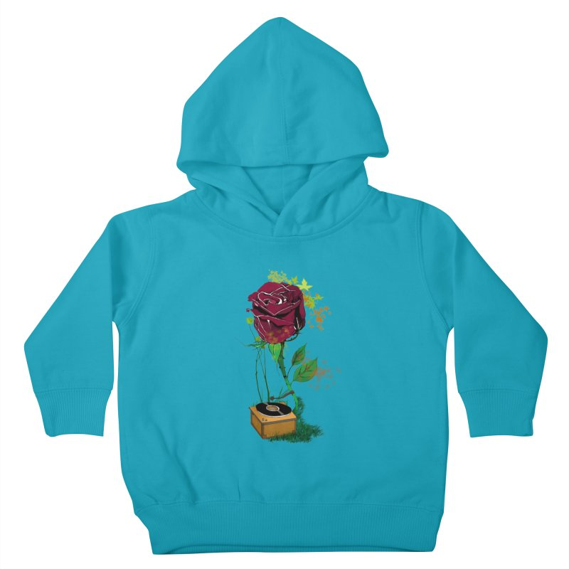 Gramophone Rose Kids Toddler Pullover Hoody by artichoke's Artist Shop