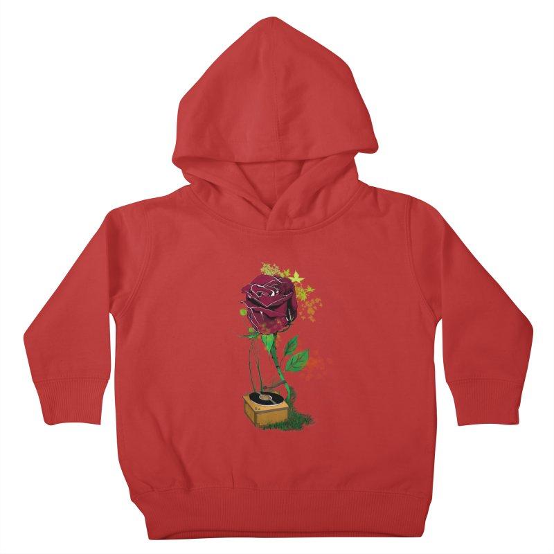 Gramophone Rose Kids Toddler Pullover Hoody by artichoke's Artist Shop