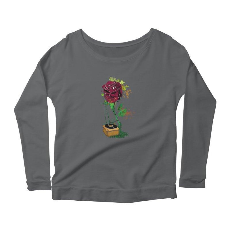 Gramophone Rose Women's Scoop Neck Longsleeve T-Shirt by artichoke's Artist Shop
