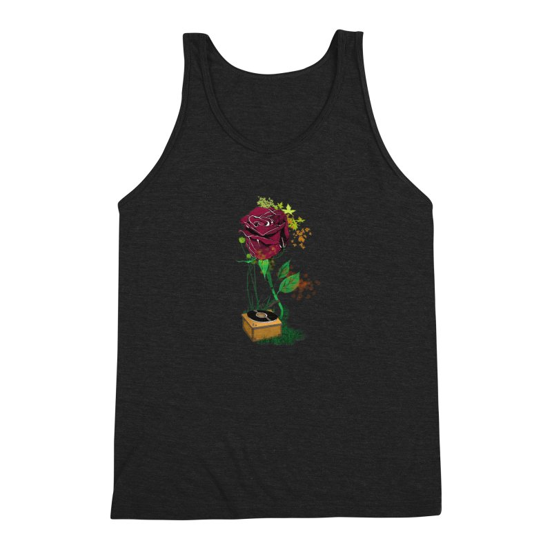 Gramophone Rose Men's Triblend Tank by artichoke's Artist Shop