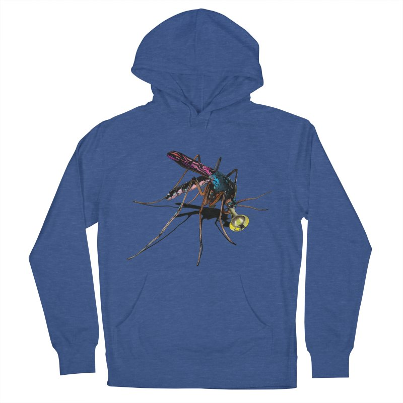 Trumpet Mosquito Women's French Terry Pullover Hoody by artichoke's Artist Shop