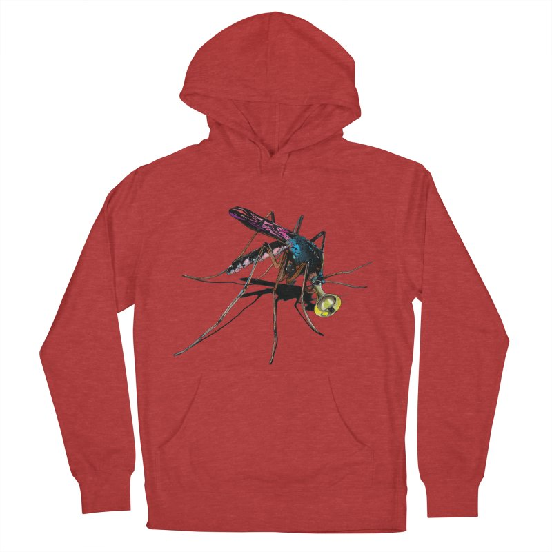 Trumpet Mosquito Men's French Terry Pullover Hoody by artichoke's Artist Shop