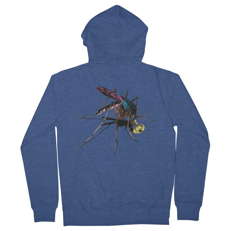 Trumpet Mosquito Men's French Terry Zip-Up Hoody by artichoke's Artist Shop