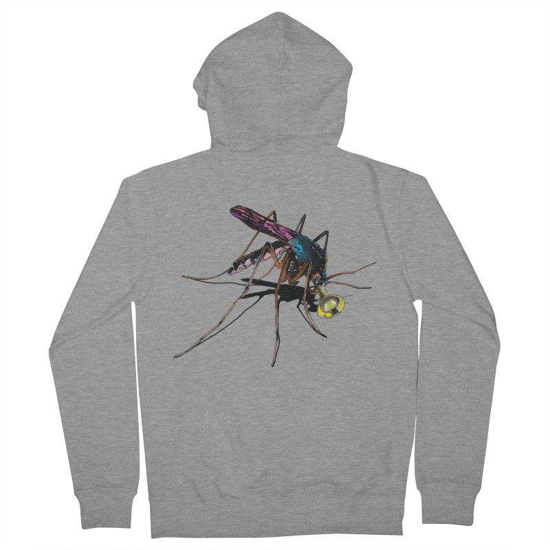 Trumpet Mosquito Men's Zip-Up Hoody by artichoke's Artist Shop