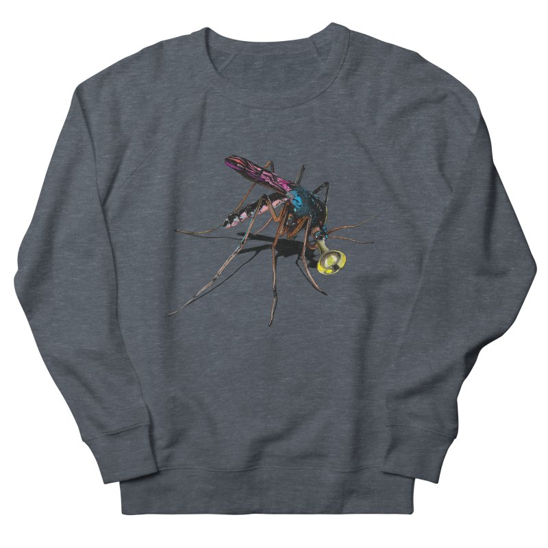 Trumpet Mosquito Women's French Terry Sweatshirt by artichoke's Artist Shop