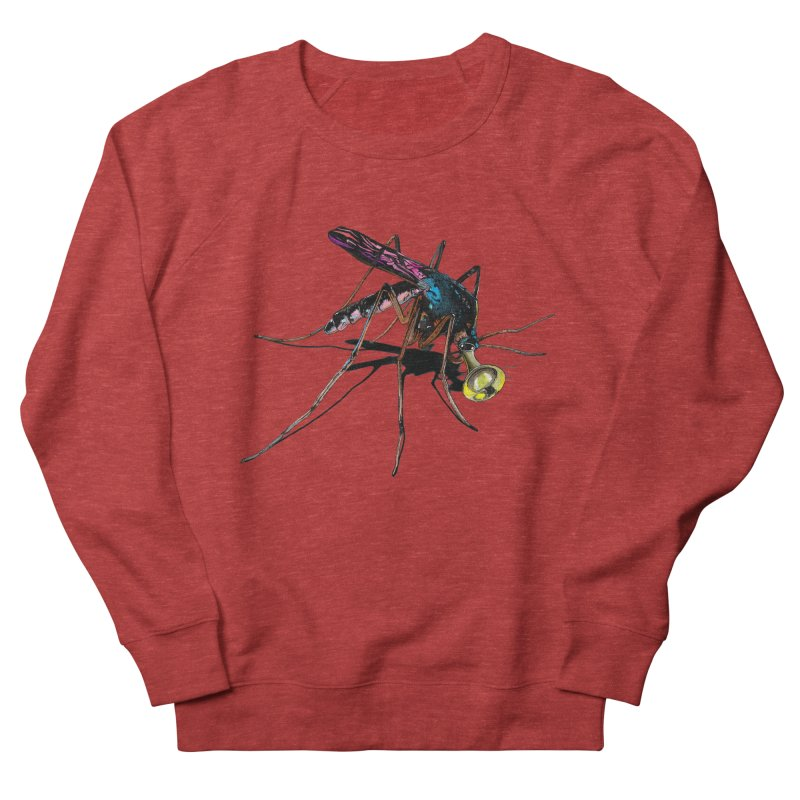 Trumpet Mosquito Men's French Terry Sweatshirt by artichoke's Artist Shop