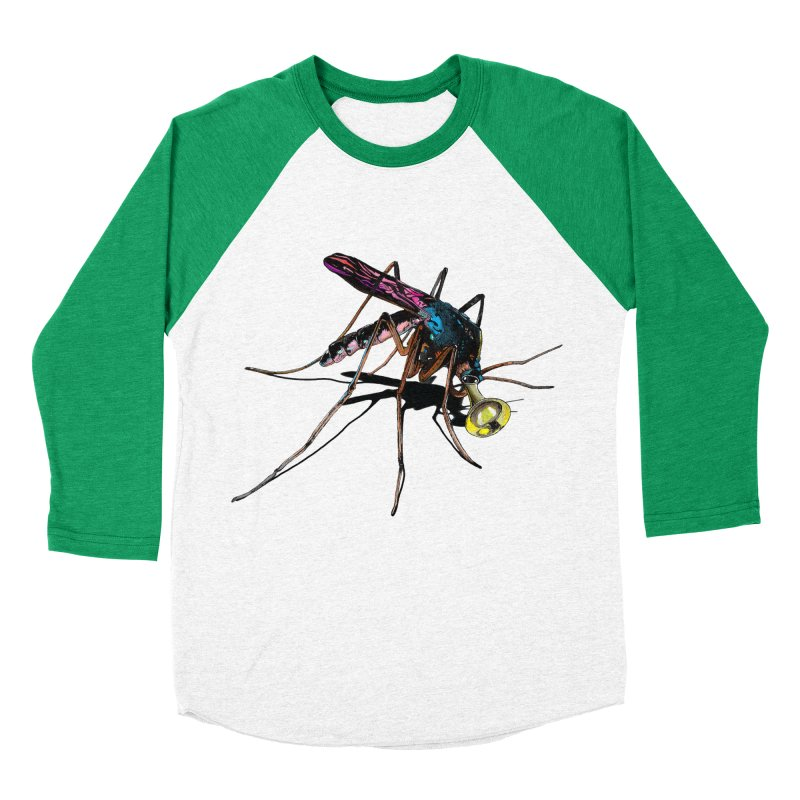 Trumpet Mosquito Men's Baseball Triblend T-Shirt by artichoke's Artist Shop
