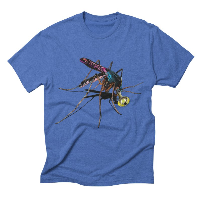 Trumpet Mosquito in Men's Triblend T-shirt Blue Triblend by artichoke's Artist Shop