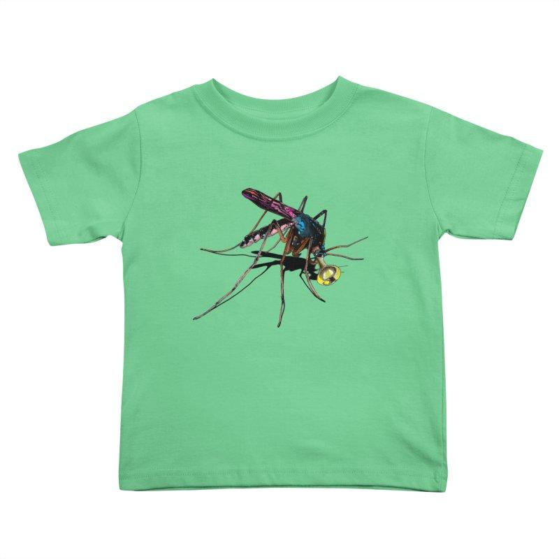 Trumpet Mosquito Kids Toddler T-Shirt by artichoke's Artist Shop
