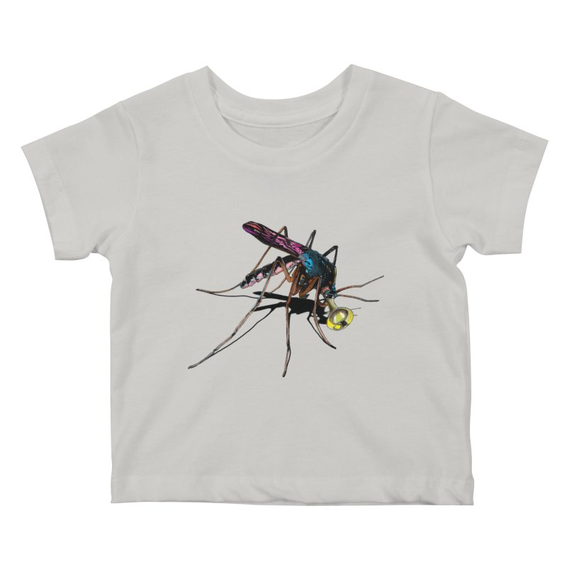 Trumpet Mosquito Kids Baby T-Shirt by artichoke's Artist Shop
