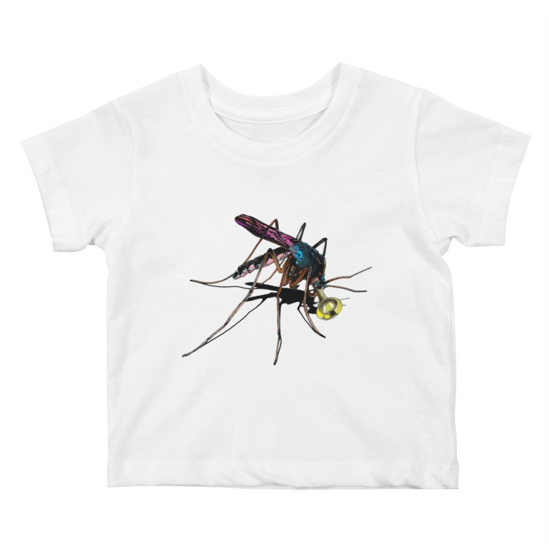 Trumpet Mosquito Kids Baby T-Shirt by artichoke's Artist Shop