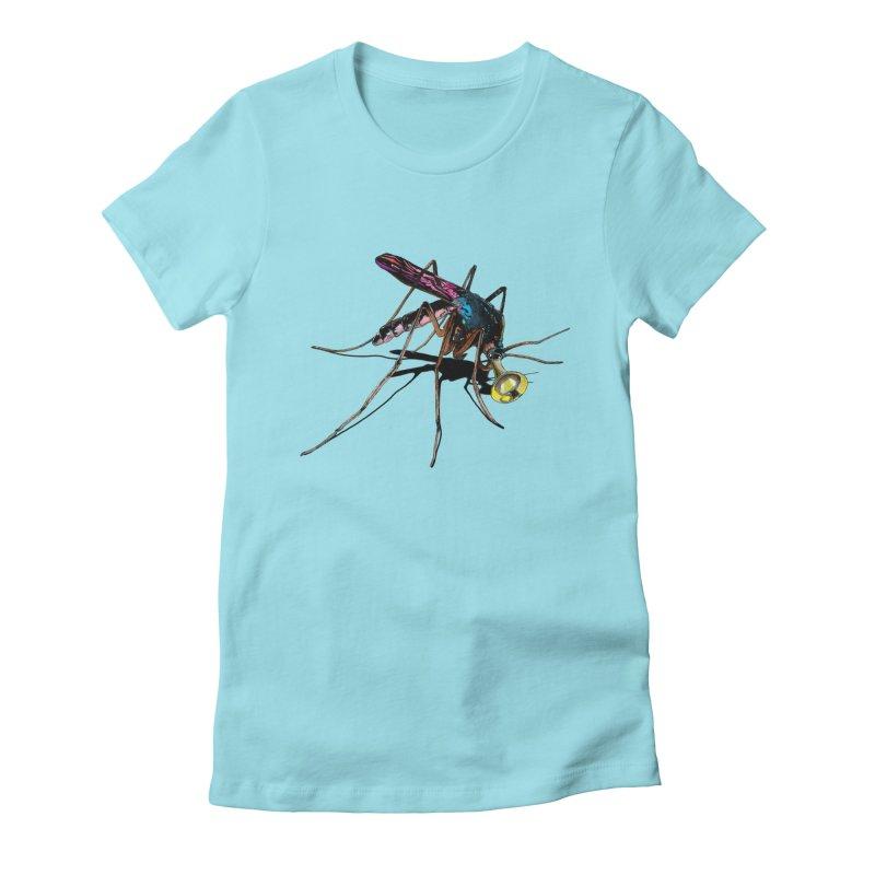Trumpet Mosquito Women's Fitted T-Shirt by artichoke's Artist Shop