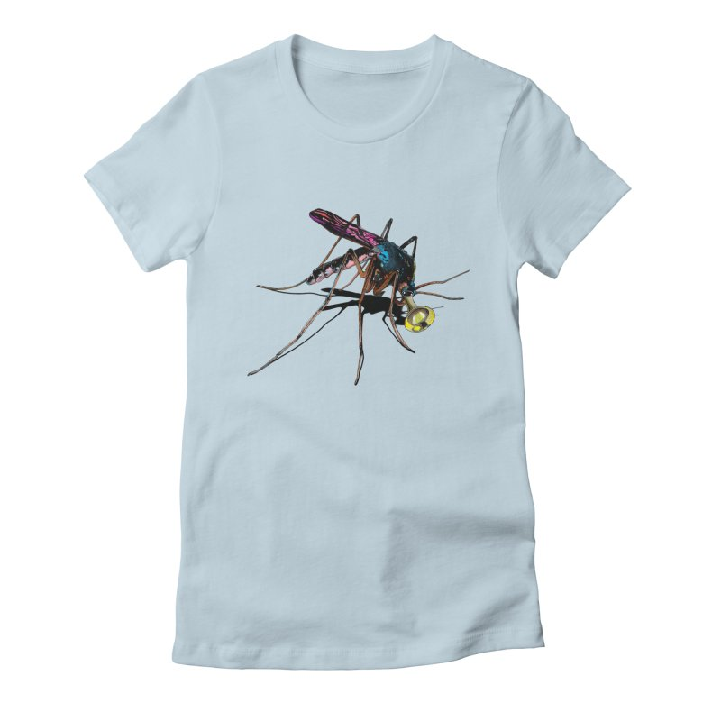 Trumpet Mosquito Women's Fitted T-Shirt by artichoke's Artist Shop