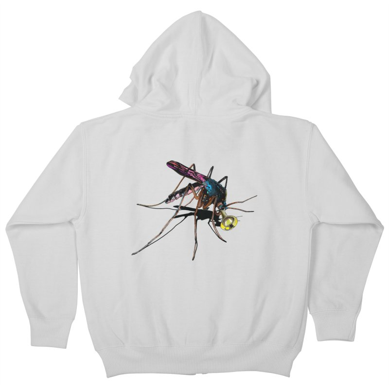 Trumpet Mosquito Kids Zip-Up Hoody by artichoke's Artist Shop