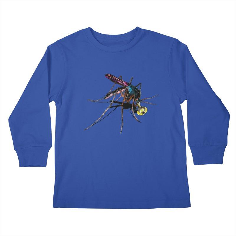 Trumpet Mosquito Kids Longsleeve T-Shirt by artichoke's Artist Shop