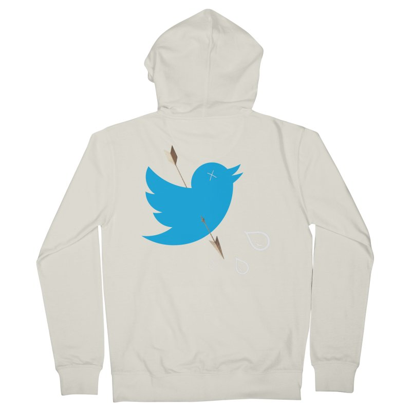 RIP Twitter Men's Zip-Up Hoody by artichoke's Artist Shop