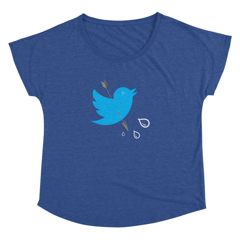 RIP Twitter Women's Dolman Scoop Neck by artichoke's Artist Shop