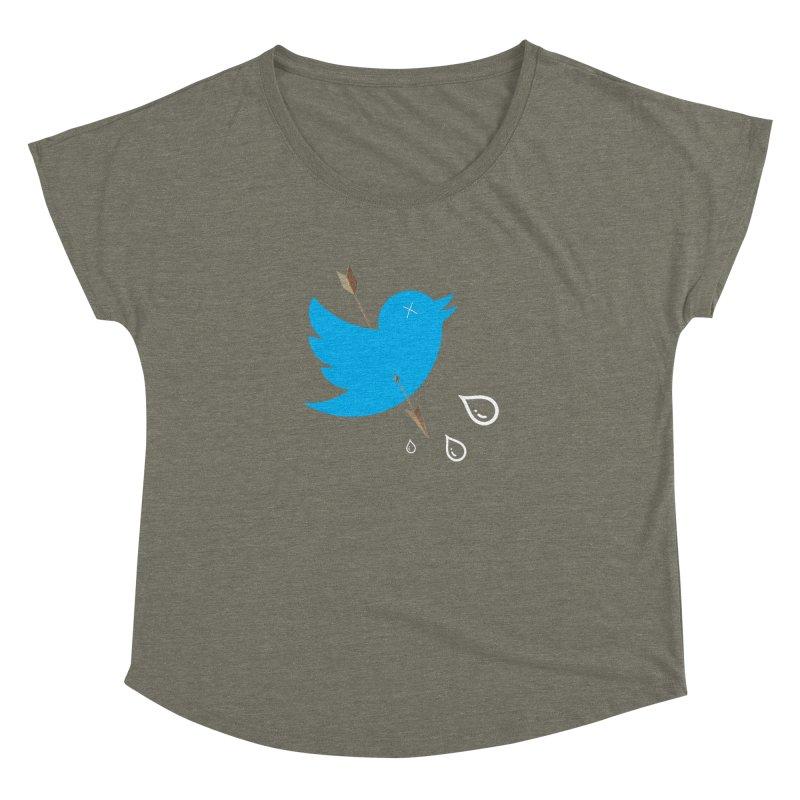 RIP Twitter Women's Dolman Scoop Neck by artichoke's Artist Shop