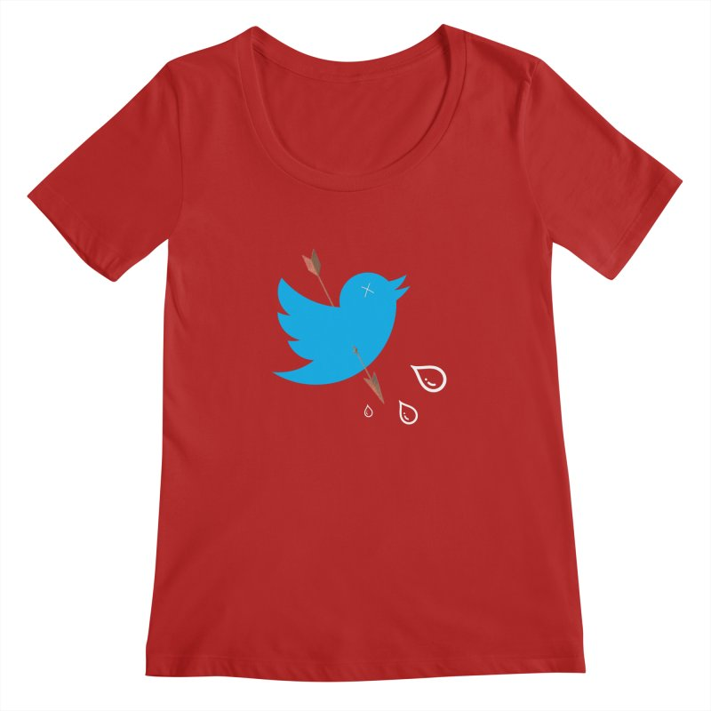 RIP Twitter Women's Scoopneck by artichoke's Artist Shop