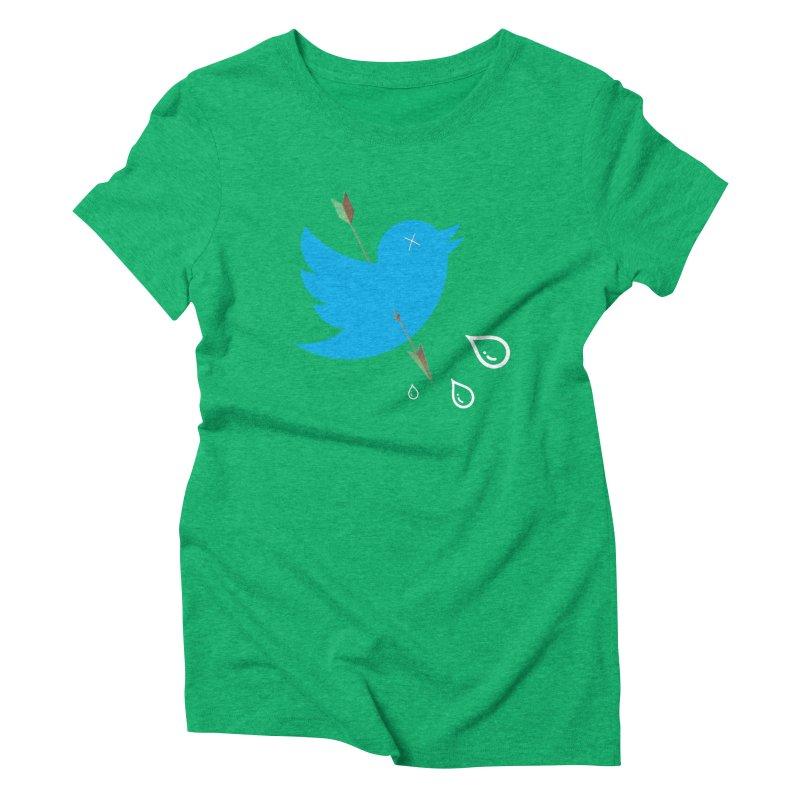 RIP Twitter Women's Triblend T-Shirt by artichoke's Artist Shop